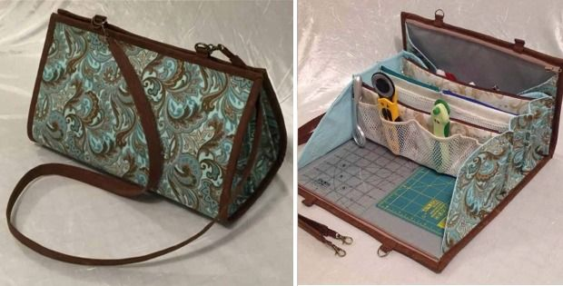 This Compact Bag Has 10 pockets, an Ironing Pad and Room for a Small Ruler and Cutting Mat - Pattern - Quilting Digest