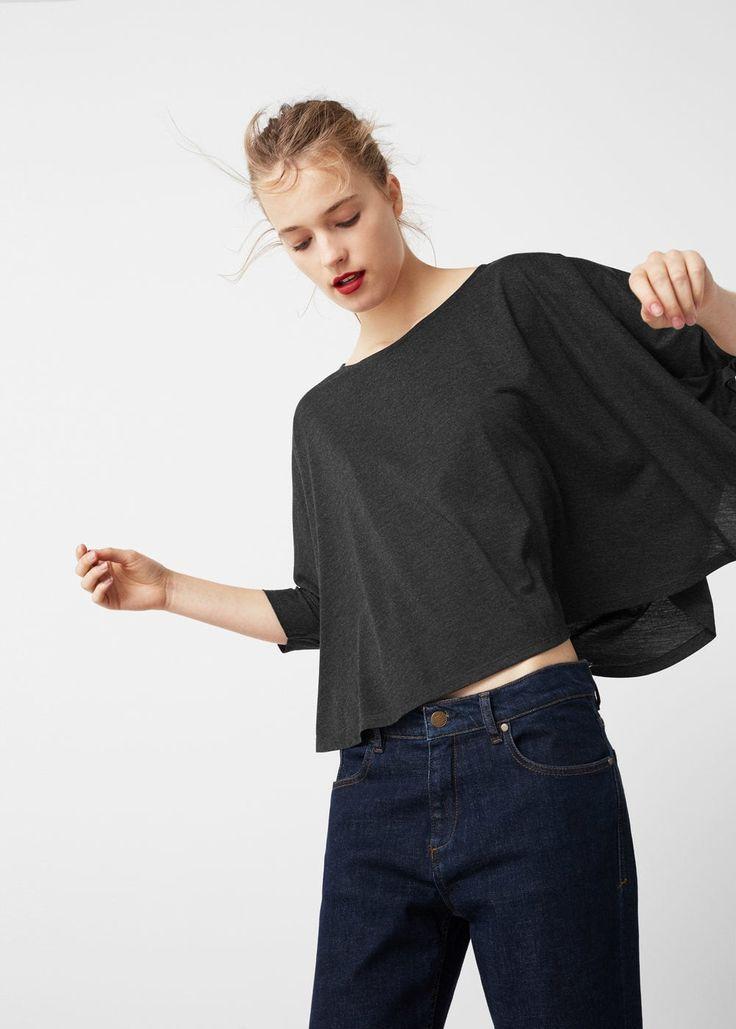 T-shirt manches chauve-souris -  Femme   MANGO France
