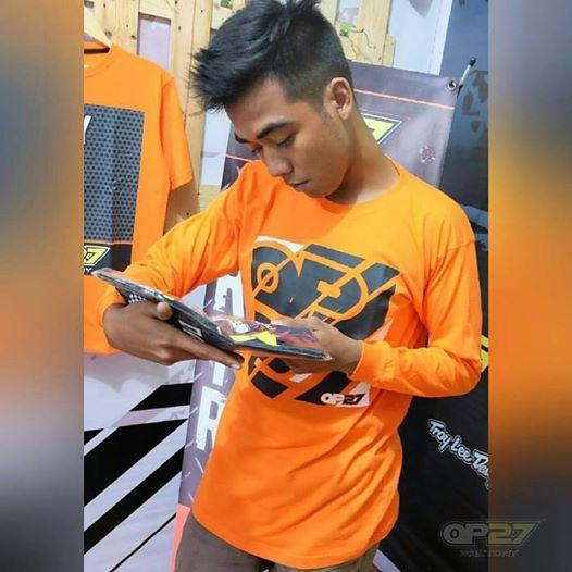T-shirt TOP27-007 Orange Longsleeve  087845622777 (WA, SMS, & Telp) / D17560D1 (BBM) / op27factory (LINE)