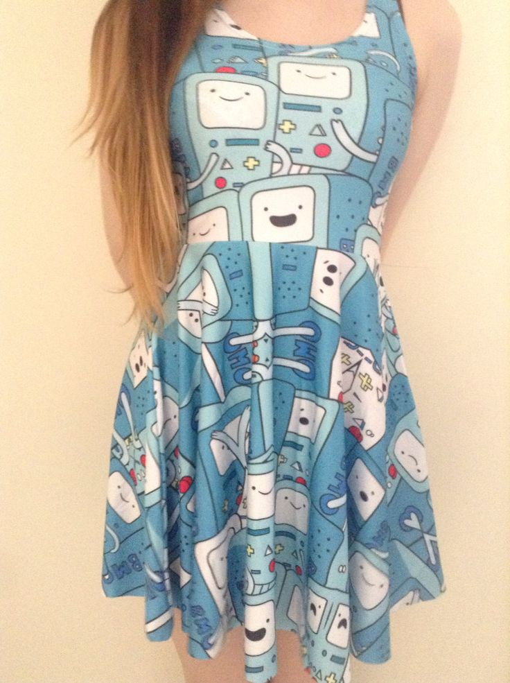BMO+beemo+adventure+time+cute+blue+dress+by+ConfusedBearCompany,+£12.99