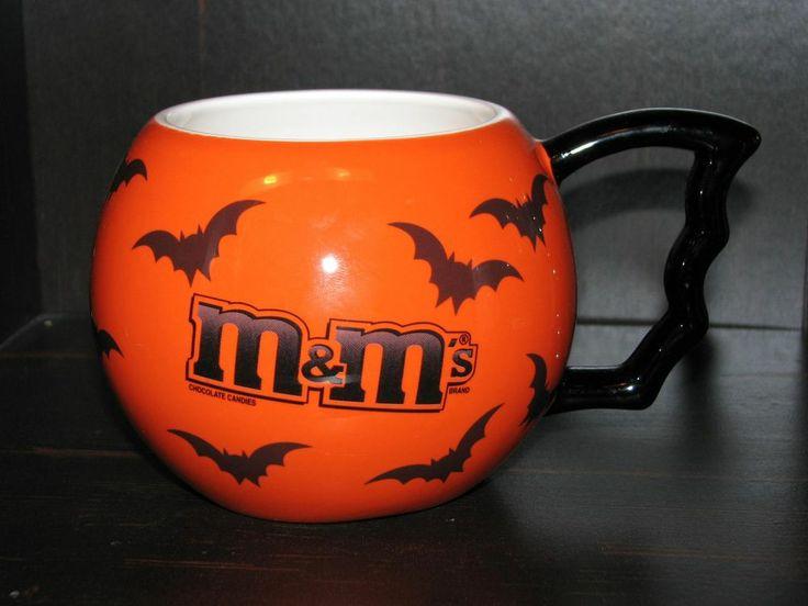 M&M's M & M's Telefora Bat Halloween Orange Coffee Cup Bat Mug ceramic Logo 2006 #MMs