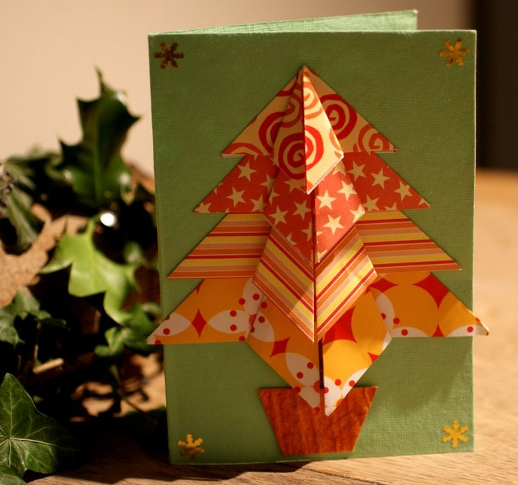 paper craft christmas card ideas appealing origami cards craft ideas 7004