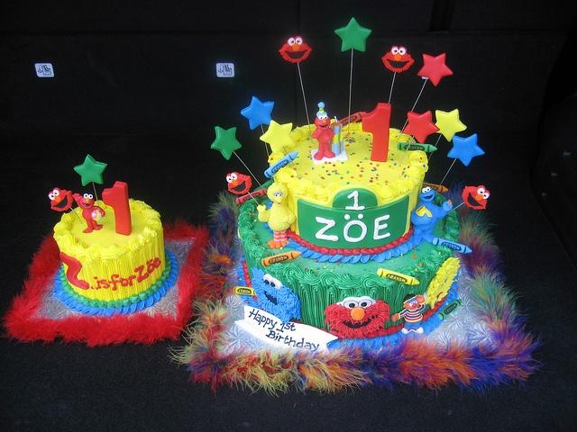 16 best sesame street birthday cakes images on Pinterest Elmo