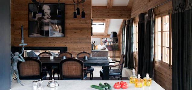 This Gstaad duplex in the centre of an ultra-chic Swiss ski resort is the epitome of alpine style.