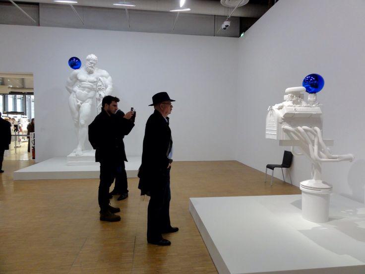 Jef Koons at the Centre Pompidou.