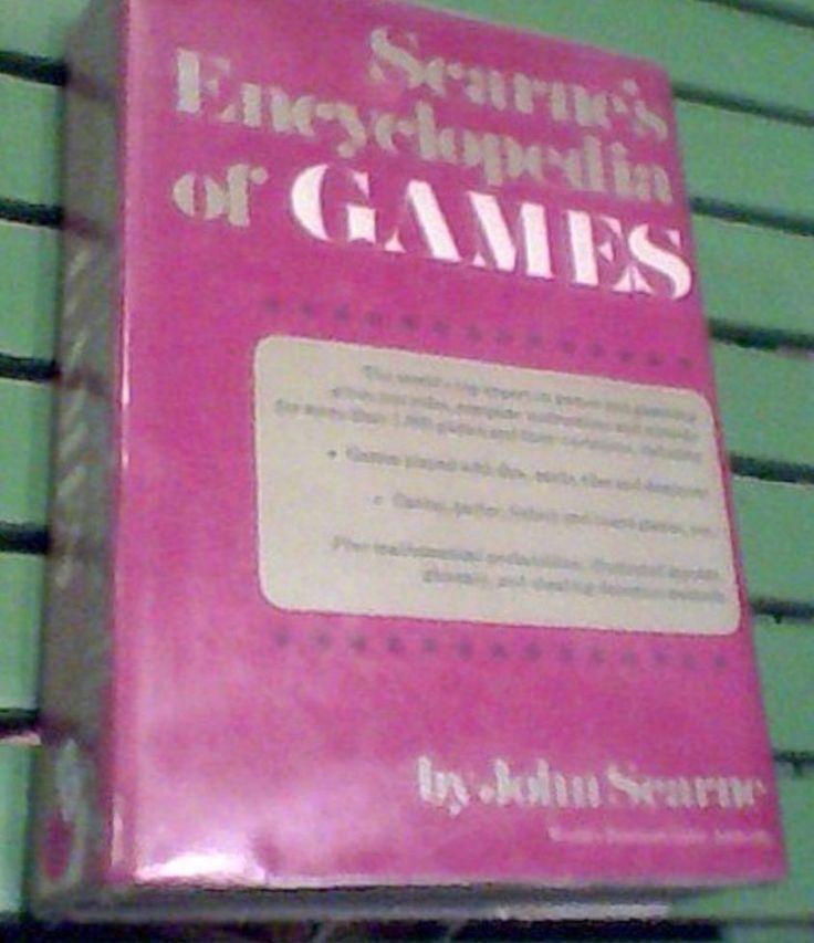 SIGNED Scarne's Encyclopedia of Games~dice~lottery~1000 games~blackjack~keno