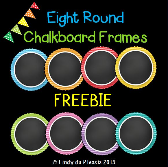 Eight free chalkboard frames.  Layer text over it and you're good to go.  Yes, it's FREE clip art!