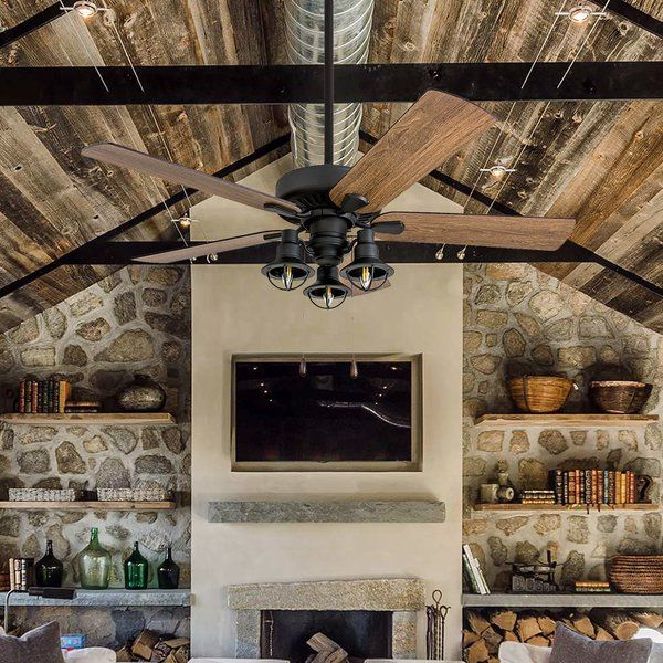 You Ll Love The 52 Ravello 5 Blade Led Ceiling Fan At Wayfair Great Deals On All Lighting Products With Free Rustic Ceiling Fan Ceiling Fan Led Ceiling Fan Big ceiling fans with lights