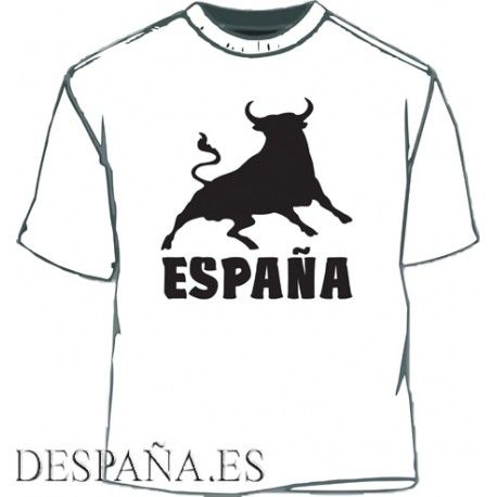 Camiseta España Toro. Blanco-negro - 8,00€