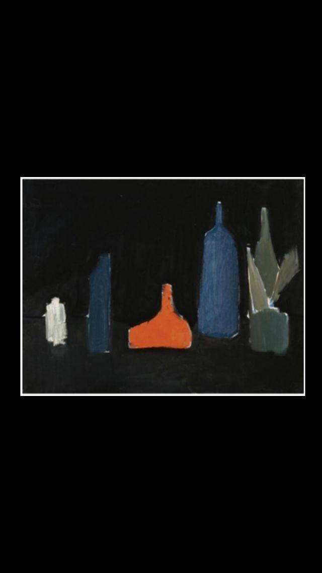 """Nicolas De Staël - """" Cinq Bouteilles """", 1954 - Huile sur toile - 60 x 81 cm"""