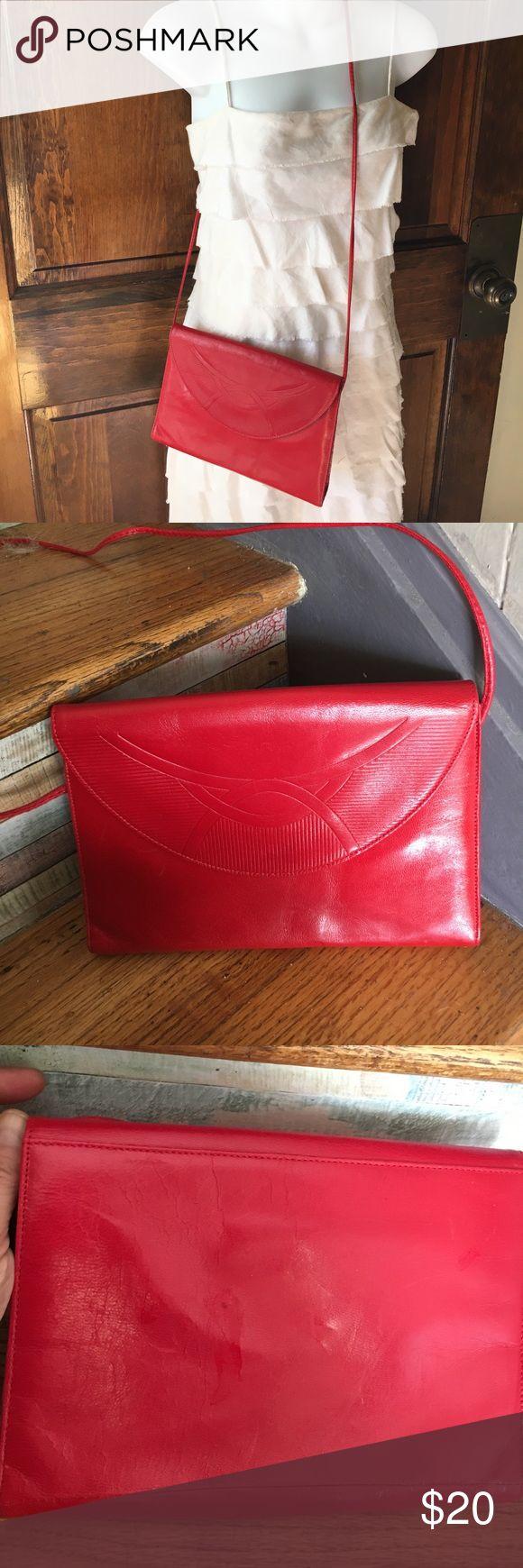 Vintage Chandlers evening bag Vintage red leather evening bag from Chandlers. chandlers Bags Crossbody Bags