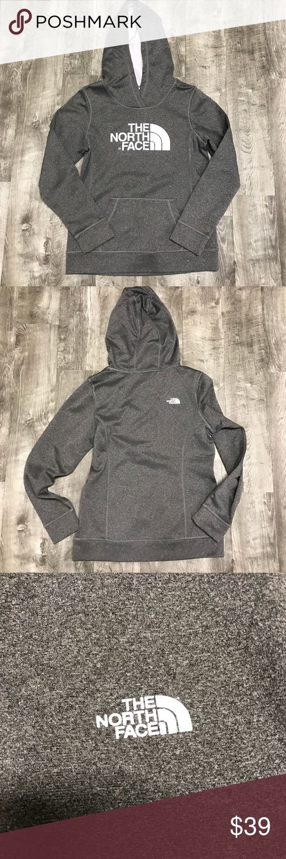 The North Face Hooded Sweatshirt Grey Women's Med The North Face Hooded Sweatshirt Grey Women's size medium. Excellent used condition. Shows little to no wear. Check out my closet for other namebrand items to bundle with to save 15% and combined shipping. The North Face Tops Sweatshirts & Hoodies