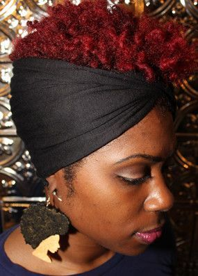 Natural Hair Accessories - Headband - Turban (Black) Rockaloc.com