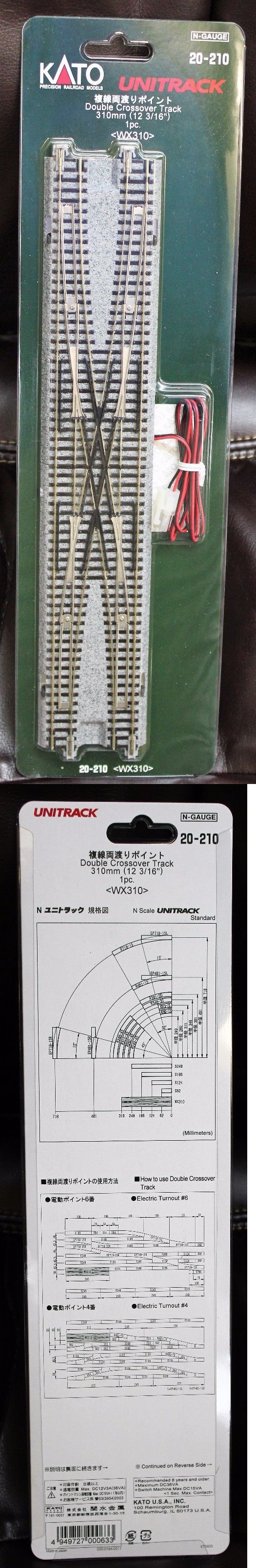 Track 69813: N Scale - Kato Unitrack 20-210 Double Crossover Track 310Mm -> BUY IT NOW ONLY: $64.99 on eBay!