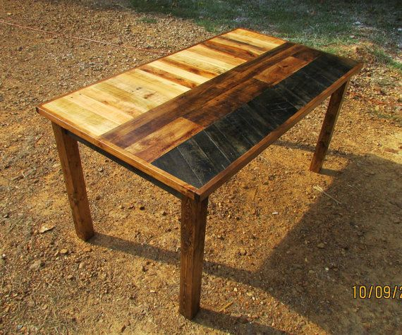 ready to ship reclaimed wood table ooak rustic by