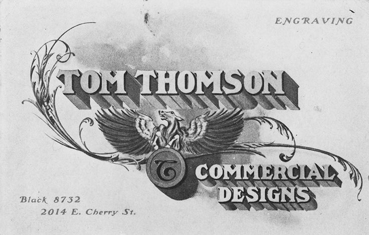 Thomson's business card from Seattle, c. 1904.