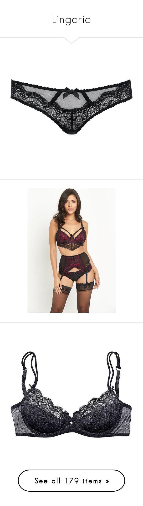 """Lingerie"" by rachelformsbeauty ❤ liked on Polyvore featuring intimates, panties, lingerie, underwear, undergarments, undies, lace panties, see through bikini, scalloped bikinis and see through panties"