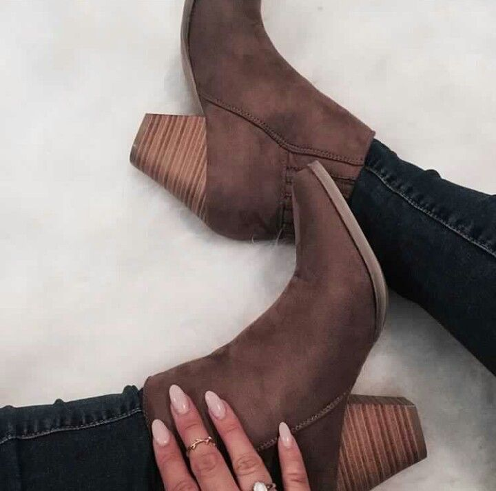 brown fall booties #jeffreycampbell