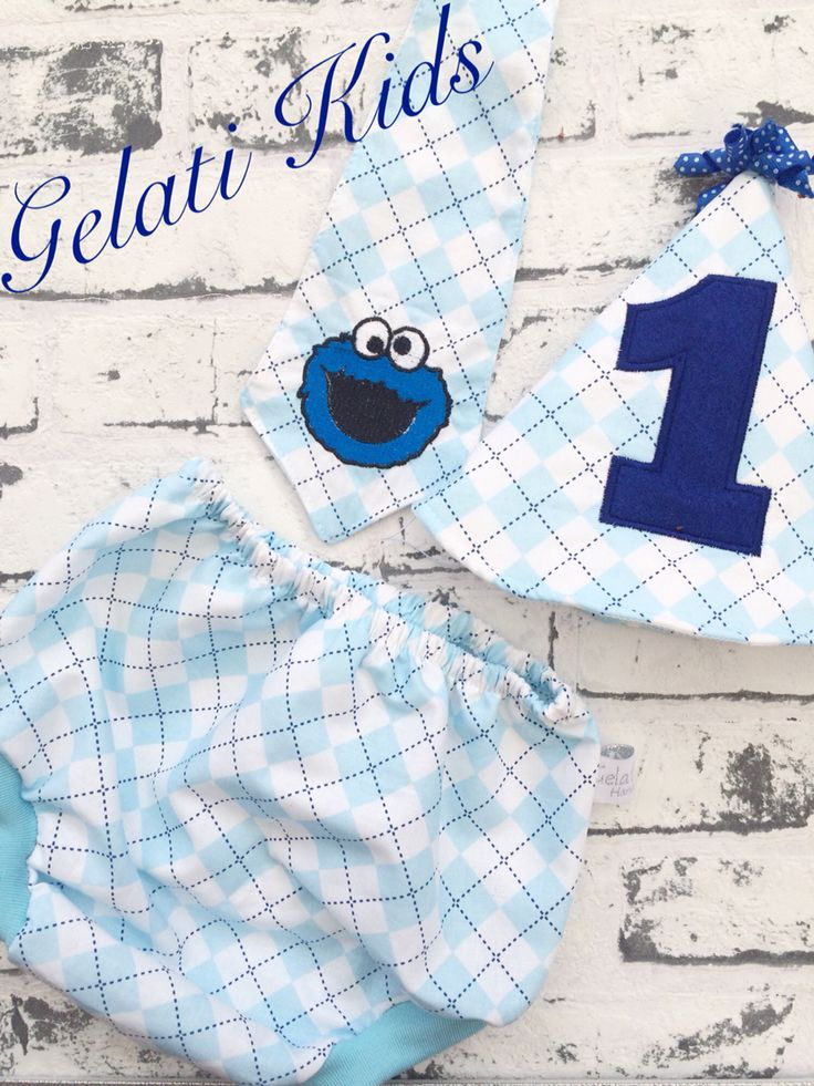 Cookie Monster cake smash outfit! Oh sew cute!