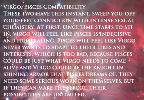 Virgo man attracted to pisces woman