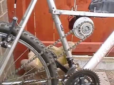 DIY cheap electric bike using a cordless- drill battery....not all rednecks live back in the holler...