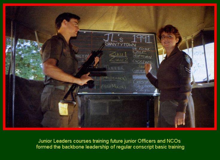 SADF.info  Junior Leaders courses training future junior Officers and NCOs formed the backbone leadership of regular conscript basic training