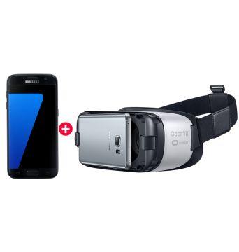 Pack Galaxy VR S7 la fiche technique complète : écran 5,1 pouces (S7) et 5,5 pouce (S7 Edge)  affichant du 2560 x 1440), Snapdragon 820, 4 Go de RAM, batterie de 3000 (S7) et 3600 mAh (S7 Edge), port MicroSD et certification IP67. Le Gear VR est un casque mobile plus évolué, en fait presque équivalent, sur certains points, aux « grands »