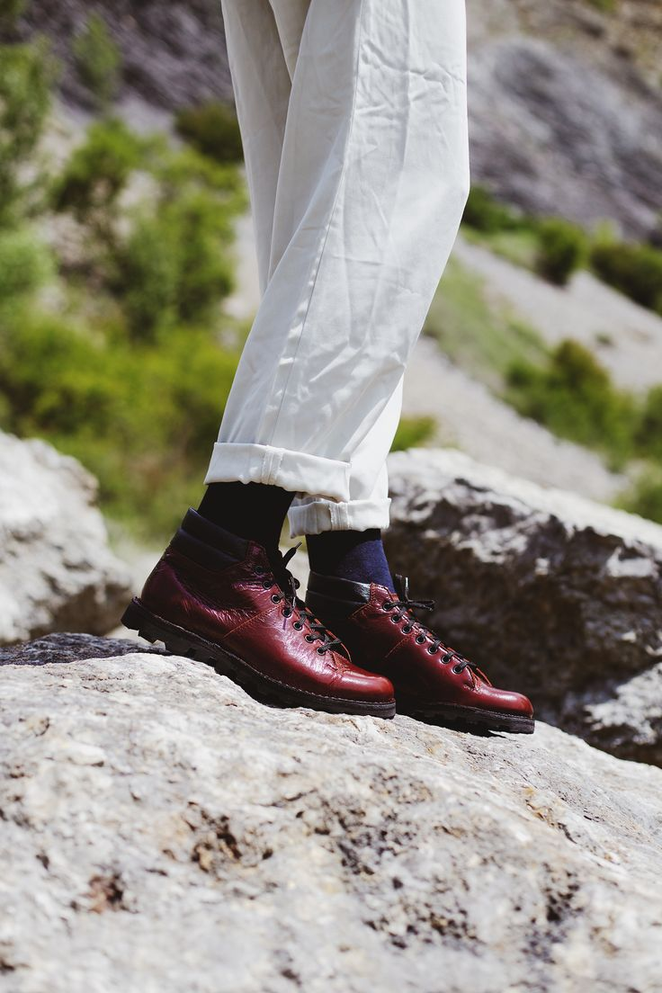 POKOJÍK / red leather boots by Flexiko, made in Czech Republic