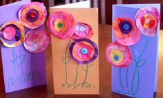 mothers day crafts ideas for kids | Mothers Day Craft for Kids to Make: Flower Cards : hands on : as we ...