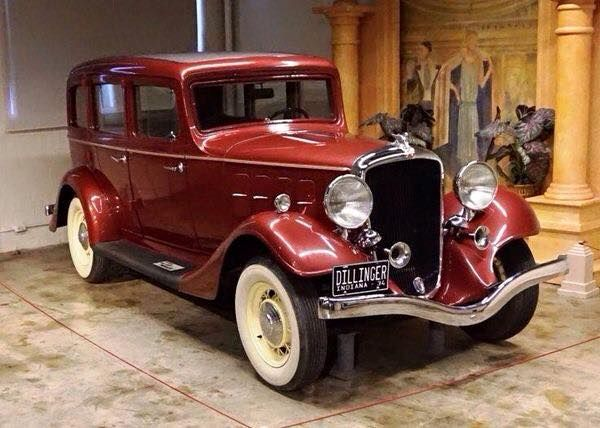 1934 Essex Terraplane 8 once owned by John Dillinger, now housed in the Museum of crime & punishment, Washington DC