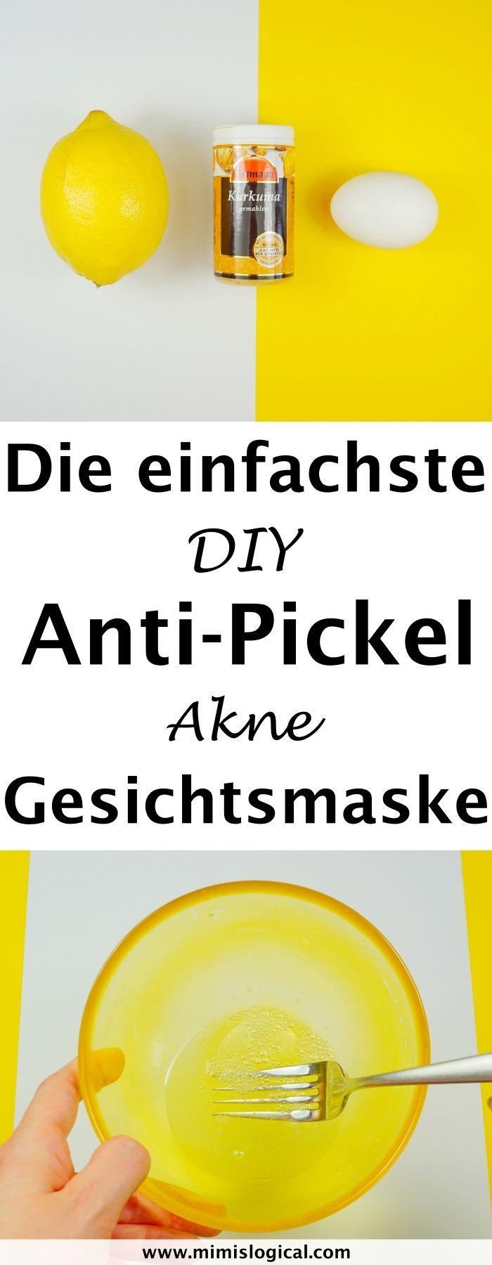 Die einfachste DIY Gesichtsmaske gegen Pickel und Akne. Egal ob hartnäckige Pic…