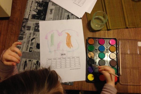 Mal-selv 2017-kalender til udprint   Kreativ med ungerne