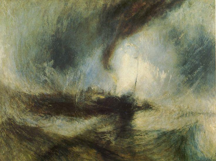 """""""Tempête de neige en mer"""" J.M.W Turner"""