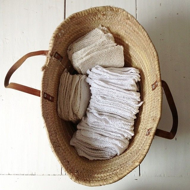 My Mamma hand knitted 78 cotton dishcloths for our new shop - grazie Mamma!