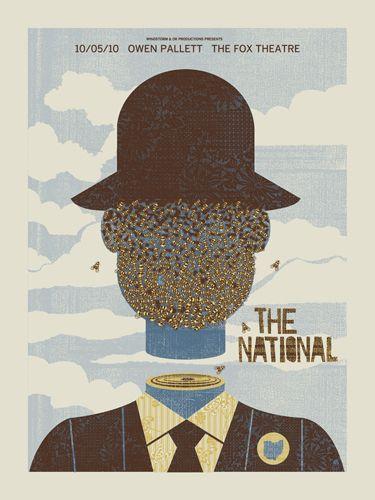 The National concert poster by Mark McDevitt (Methane Studios)