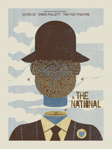 The National concert poster by Mark McDevitt (Methane Studios)