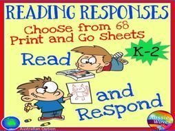 Reading Responses for Books Independent Activities for Literacy Centres Early Grades by mareehenderson21 - Teaching Resources - TES