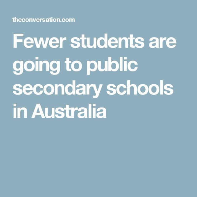 Fewer students are going to public secondary schools in Australia