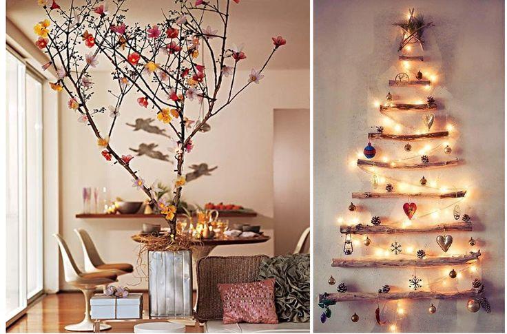 árvores de natal diferentes - http://www.cashola.com.br/blog/economizar/ideias-criativas-para-enfeitar-a-sua-casa-para-o-natal-380
