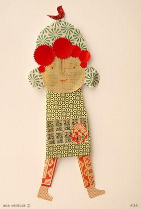 scrap of paper doll #24 by ana ventura, via Flickr