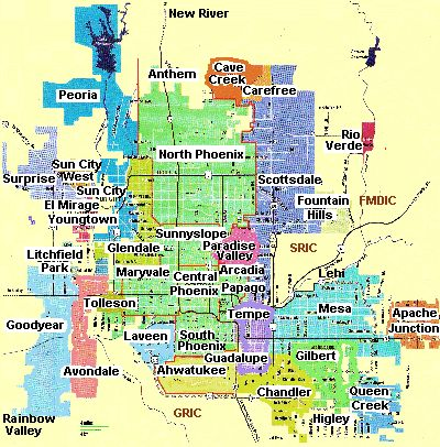 Image result for map of surprise az and surrounding area