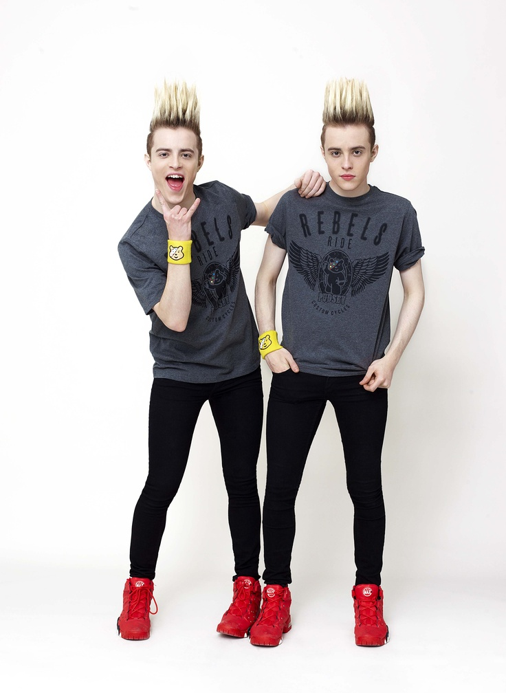 Jedward model ASDA's 'Rebels Ride' t-shirt for BBC Children in Need #CiN http://bbc.in/SzDpGZ