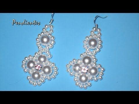DIY - Pendientes faciles para novias - tutorial prinpiantes - DIY - Easy earrings for brides - - YouTube