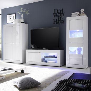 Les Meilleures Idées De La Catégorie Meuble Tv Blanc Laqué Sur - Sofamobili meuble tv pour idees de deco de cuisine