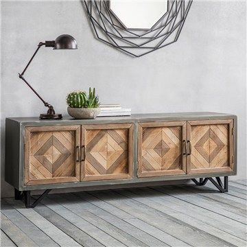 Vincent Metal and Timber Sideboard