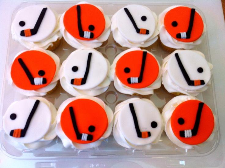Cupcake Decorating Ideas Hockey : Hockey Cupcakes by Carly s Cakes Cakes I Made ...