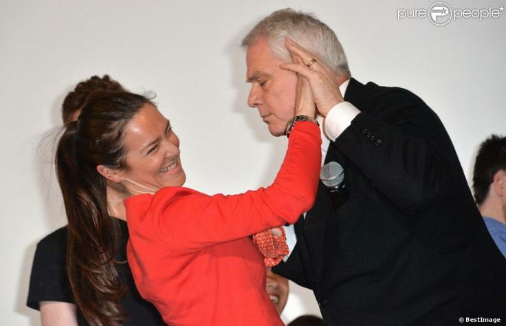 """Emmanuelle Boidron et Pierre Dulaine lors de l'avant-première de """"Dancing in Jaffa"""" au Festival 2 Valenciennes Cinéma 2014 à Valenciennes le..."""
