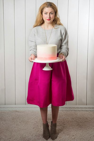 bright pink + grey + ombre - stylish fashion blogger featured on the #reasonstodress style linkup for fbloggers.