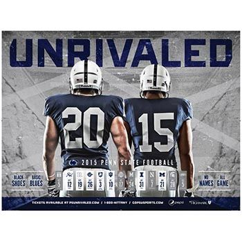 2015 Penn State Football Schedule Poster