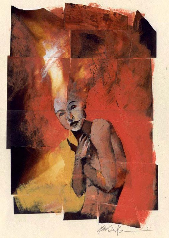 Delirium, Dave McKean. Aside from comic and cover illustrations, Dave is known for painting standalone pieces that equally capture his slightly morbid style.